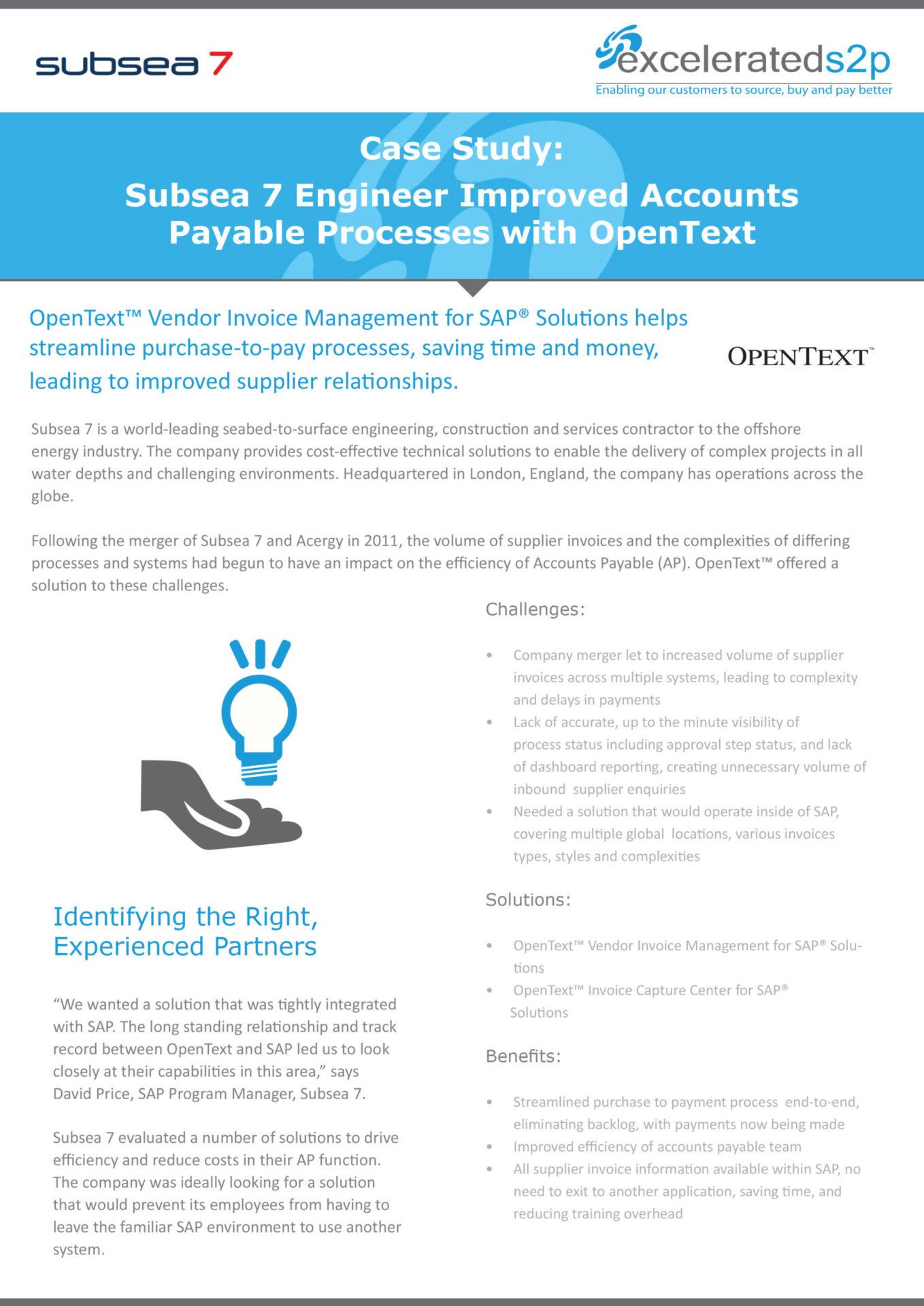 Case Studies ExceleratedSP - Open text invoice management