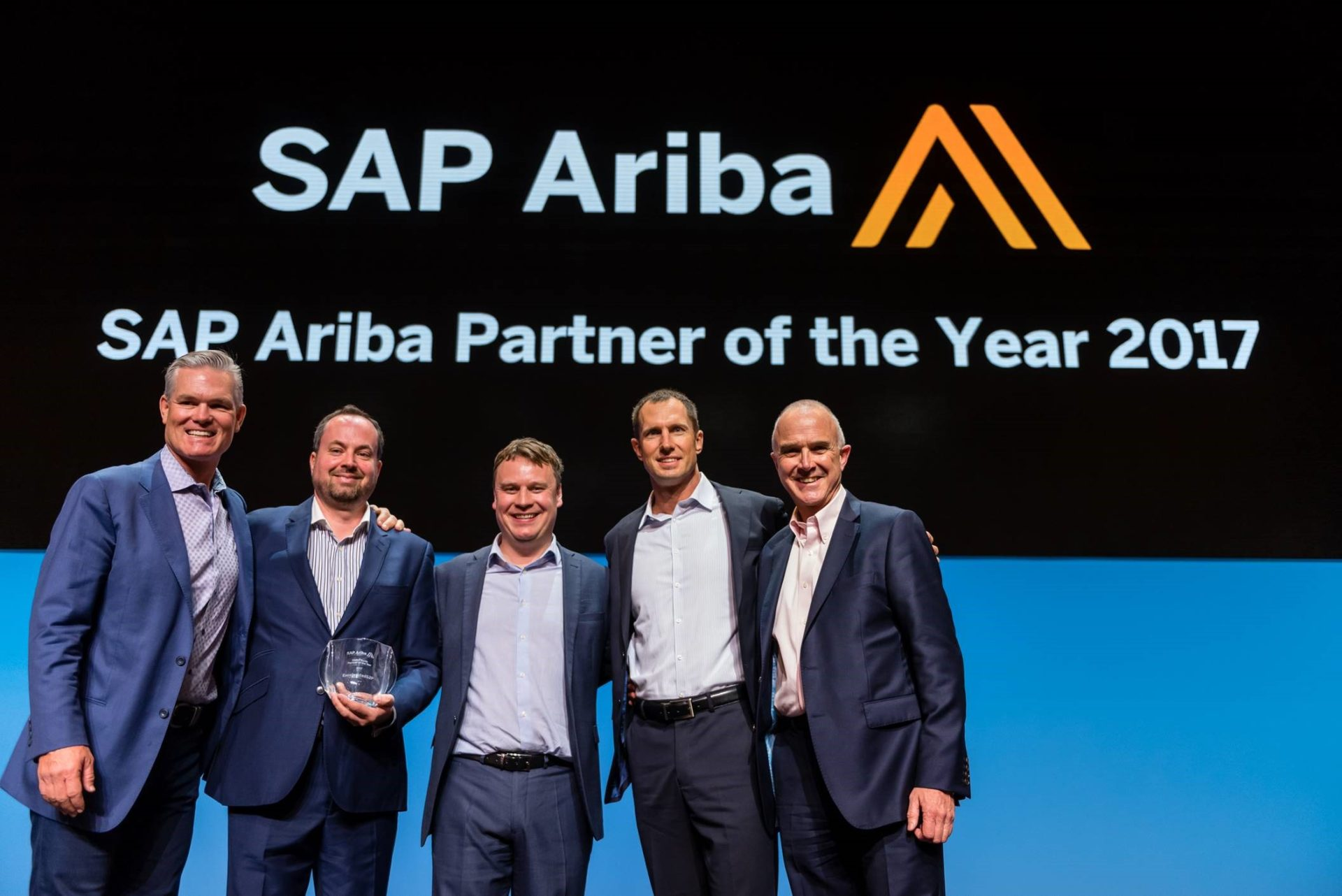 SAP Ariba Partner of the Year graphic. ExceleratedS2P is proud to be recognised for our work with SAP Ariba P2P solutions.
